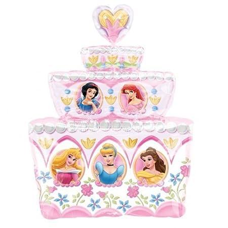 Brilliant Disney Princess Birthday Cake Supershape Foil Balloon Uninflated Birthday Cards Printable Trancafe Filternl