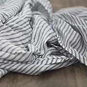 Saranoni Luxury Decorative Muslin Swaddle Baby Blanket (Gray Stripe)