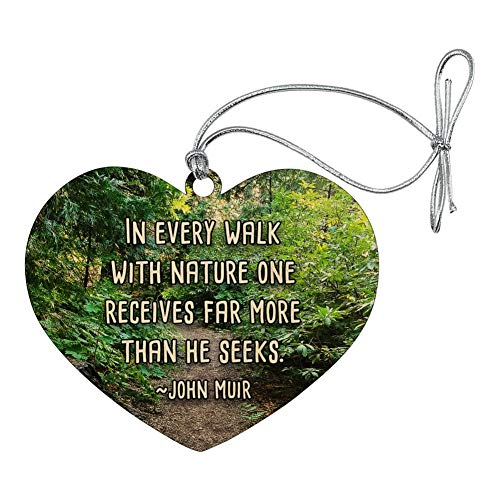 GRAPHICS & MORE in Every Walk with Nature John Muir Heart Love Wood Christmas Tree Holiday Ornament