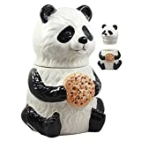 "Ebros The Kung Fu Dragon Warrior Giant Panda Ceramic Cookie Jar 9.5""Tall Collectible Kitchen Hosting Dining Accessory Cute Panda Bear Figurine"