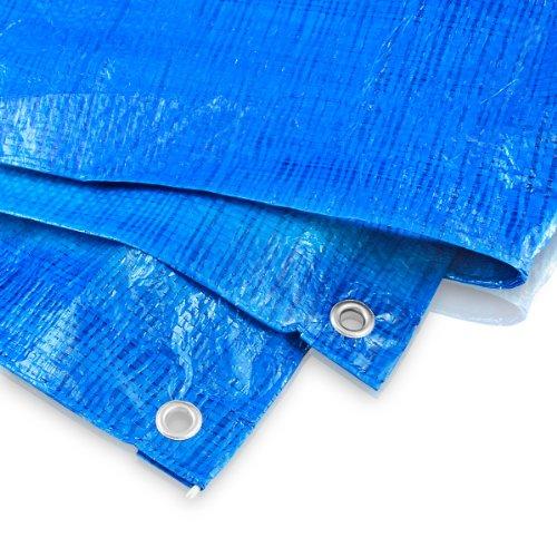 Abdeckplane 3 x 3 Meter - 60 g blau