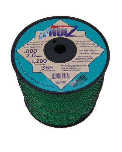 - LoNoiz .080-Inch 3-Pound Spool Commercial Grade Spiral Twist Quiet Grass Trimmer Line, Green LN080MSP-2