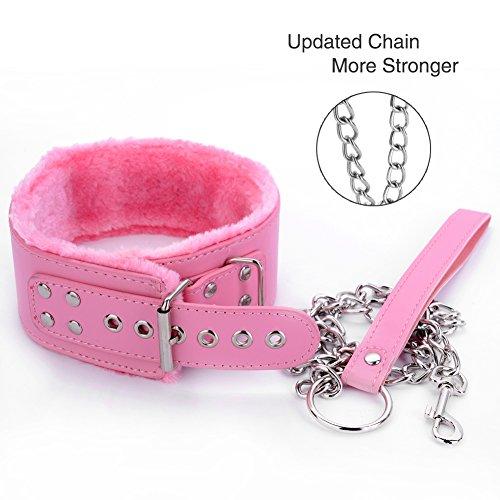 AotengStar-PU-Leather-Fur-Collars-Choker-with-Chain-Detachable-Leash-for-Men-Women