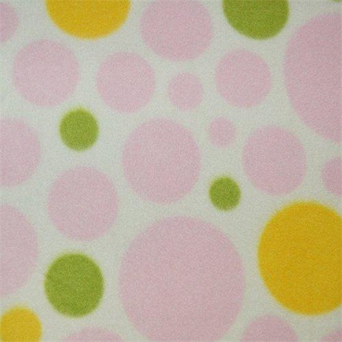 White/Pink Dream Dot Fleece, Fabric By the Yard (Dot Fleece)