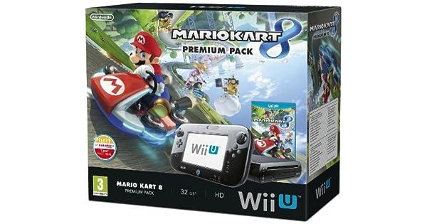 Nintendo Mario Kart 8 Wii U Premium Pack - juegos de PC (Wii U, IBM PowerPC, AMD Radeon, SD, 32 GB, 32 GB) Negro: Amazon.es: Videojuegos