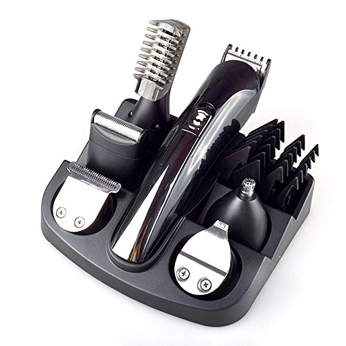 Hair Cutting Kit Electric Trimmer Shaver for Men Titanium Hair Clipper Beard Trimmer Machine 6 in 1 Haircut Machine