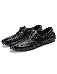 Men's Buckle Strap Soft Flats Octopus Comfort Driving Casual Loafers Boat Shoes