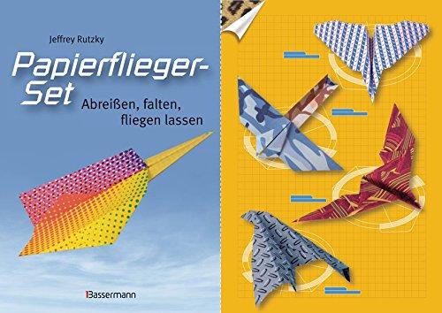 Papierflieger Set  Abreißen Falten Fliegen Lassen. Buch Und Bedrucktes Faltpapier