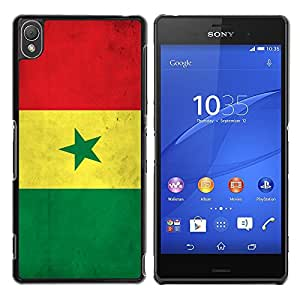 Graphic4You Vintage Senegalese Flag of Senegal Design Thin Slim Rigid Hard Case Cover for Sony Xperia Z3
