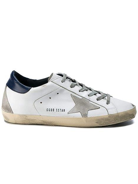 Golden Goose Mujer GCOWS590A7 Blanco Cuero Zapatillas: Amazon.es: Zapatos y complementos