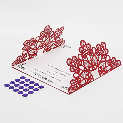 FidgetFidget Wedding Party Invitation Card Envelope Delicate Carved Romantic 2017 NEW 22 Pcs # 2