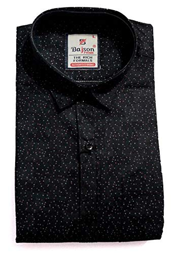 972d98dc7e1 BAJSON Black Printed Shirt for Men(Blacl A-01T)  Amazon.in  Clothing ...