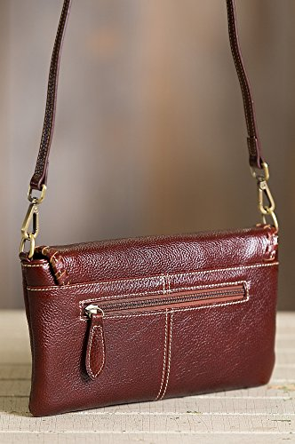 Connie Pebbled Leather Crossbody Wristlet Clutch by Overland Sheepskin Co (Image #2)