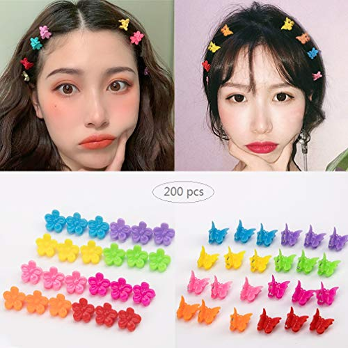 (Mini Hair Claw Clips, Butterfly Hair Clips, Small Flower Hair Clips, Mini Hair Accessories Decorative Clips (200pcs))