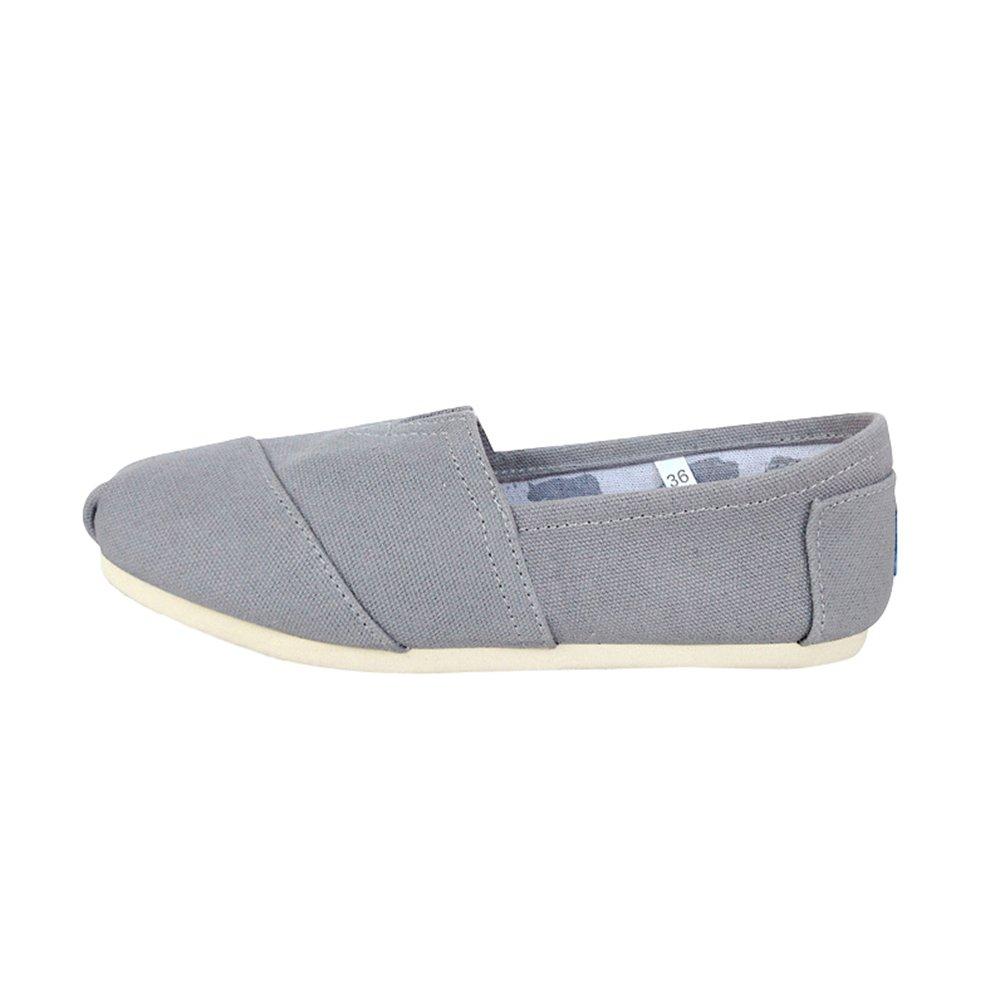 Dooxi Hommes Femmes Décontractée Plat Hommes Loafers Chaussures Unie Mode Couleur Confort Couleur Unie Espadrilles Gris c409858 - boatplans.space