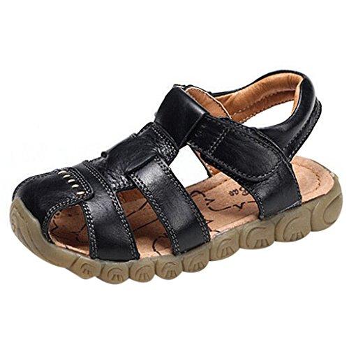 (GETUBACK Boys Genuine Leather Sandals Soft Sole (Toddler/Little Kid/Big Kid) Black CN Size 24)