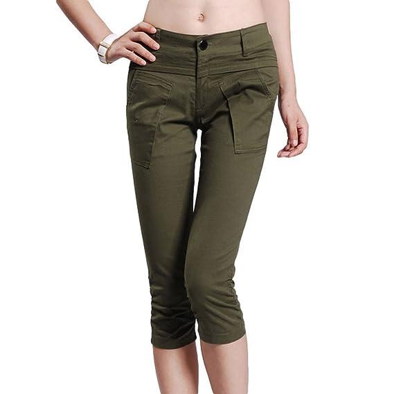 61643c177103ee Damenmode OL dünne dünne Arbeitsplatz beiläufige Kurze Hosen Shorts (XL)
