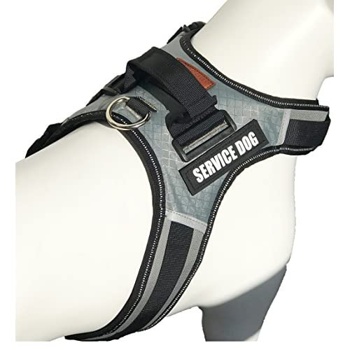 70%OFF Albcorp Reflective Service Dog Vest Harness, Woven Nylon, Neoprene Handle, Adjustable Straps, with Comfy Mesh Padding, and 2 Hook and Loop Removable Patches, XS to XL sizes. Red/Black/Gray/Blue