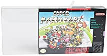 25 N64 & SNES Clear Plastic Box Protector sleeve Box Video Game Display Case Nintendo 64 & Super Nintendo Game Crystal Clear Scratch Resistant by Mario Retro