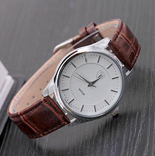 Genießen Armbanduhren Automatik Chronograph Uhr Uhrarmband Business Watch Leder (1)