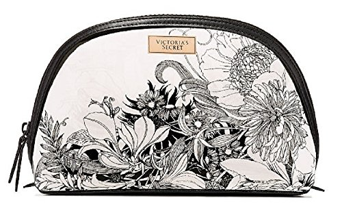 Victoria's Secret Black Floral Beauty Cosmetic Bag