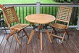 "Outdoor Interiors 30"" Eucalyptus & Metal Bistro Table"