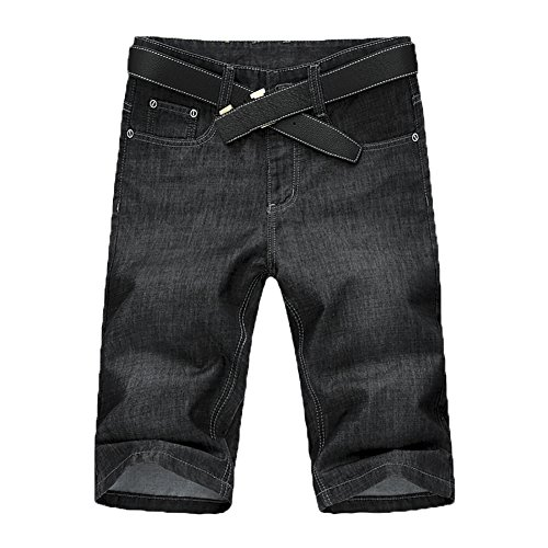 69abc016406 SITENG Men Summer Casual Black Blue Jean Shorts Big and Tall Plus Size 44  46 48