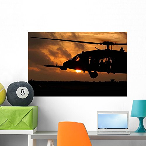 Wallmonkeys Hh-60g Pave Hawk Helicopter Wall Mural Peel and Stick Graphic (36 in W x 23 in H) WM150746