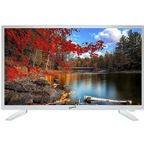 Supersonic SC-2211WH White AC/DC HDMI 1080p 22″ LED Widescreen HDTV Television
