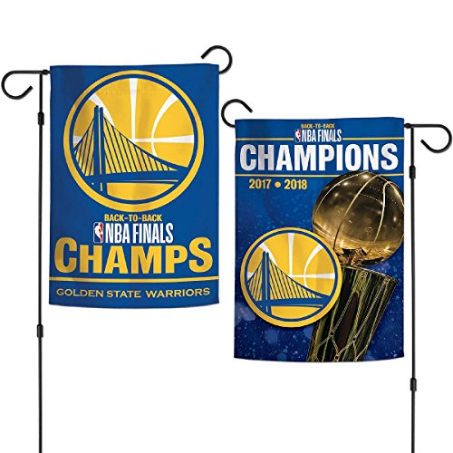 WinCraft Golden State Warriors NBA 2018 Champions Double Sided Garden Flag Banner by WinCraft