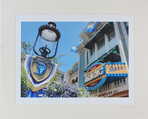 Disneyland - Main Street Magic Shop & Gas Lamp Diamond Anniversary Matted Photo - 16 x - Disneyland Shops Main Street