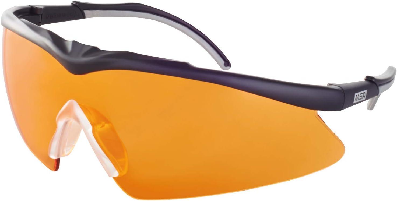 MSA Safety – Gafas de protección deportivas y de caza TecTor Opirock UV400 + bolsa microfibra y cordón