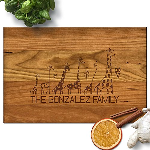 Froolu Giraffe Animal lover best cutting board for Family with Kids Housewarming Gifts by Froolu