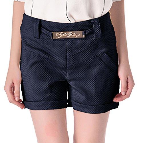 Wantdo Women's Casual Regular Fit Summer Shorts, Navy,Small