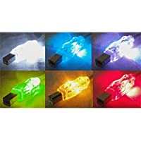 QVS 6FT USB A TO USB B M/M TRANSLUCENT CBL W/ MULTICOLOR LEDS / CC2209C-06L /