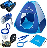 CHETLAND Kids Camping Set Toys Includes Pop Up Play Tent, Camping Gear Tools Adventure Gift Set for Boys and G