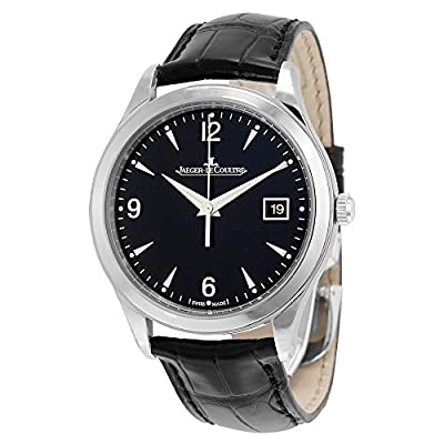 Jaeger LeCoultre Master Control Automatic Black Dial Black Leather Mens Watch Q1548470