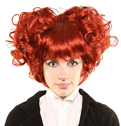 LuxeWigs Queen of Hearts Character Deluxe Costume/Theatrical Wig -