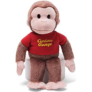 Gund Classic Curious George in Red Shirt 8""