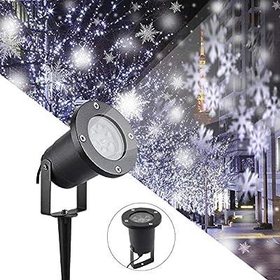 Luces del Proyector Navidad LED Luz de Proyección Paisaje Copo de ...