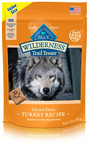 Blue Buffalo Wilderness Trail Treats Grain Free Dog Biscuits Turkey 24oz