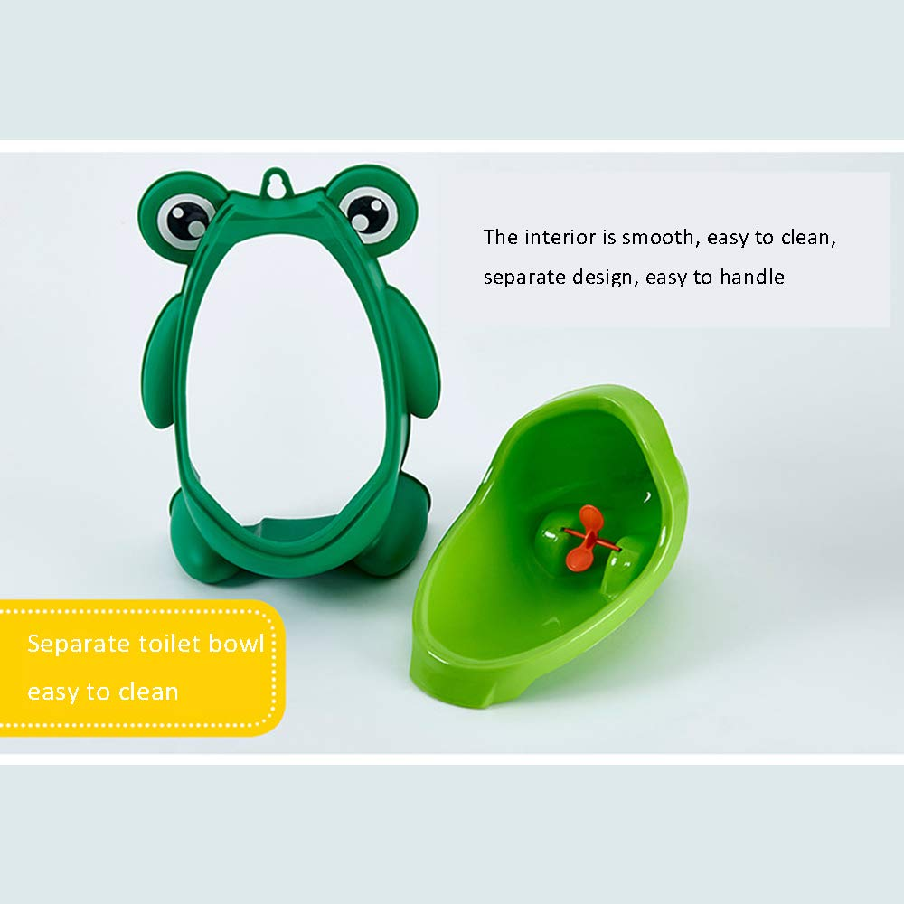 Dwhui Children's Urinal Cute Frog Boys Potty Toilet Trainning with Whirling Wall-Mounted Standing Toilet Suitable for Male Baby's Babies Urinal Urinal