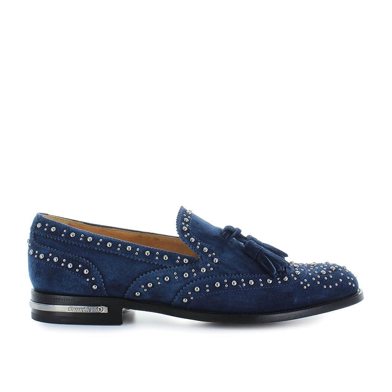 126f164f675 Zapatos de Mujer Mocasín Tamaryn Met Ante Azul Church s Primavera Verano  2018