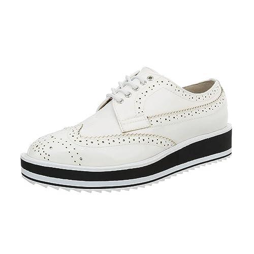 d25eb480 Ital-Design - Zapatos Planos con Cordones Mujer: Amazon.es: Zapatos y  complementos