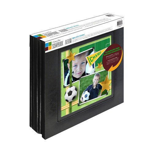 Old Town Memory Stor 2 Pack Bonded Leather Scrapbook Album with Large Display Window, 20 Pages, (Scrapbook Display)