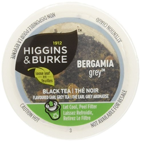 Higgins & Burke Single Serve Tea Capsules, Bergamia Grey Loose Leaf Tea, 24 Count, Premium Authentic Herbal Tea with Natural Blend