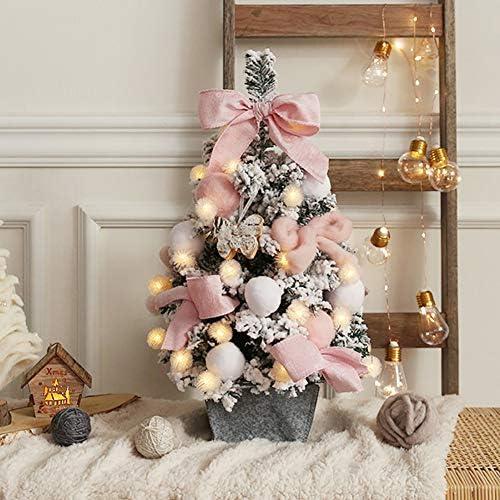 Z·Bling Albero di Natale da Tavolo con Decorazioni,Albero di Natale Artificiale Innevato 60 cm,Stelle di Natale e Regali,Altezza 60 cm – Verde,Rosso