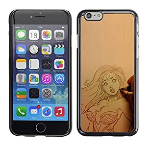 SKCASE Center / Funda Carcasa - Superhéroe Mujer atractiva;;;;;;;; - Apple Iphone 6 Plus 5.5
