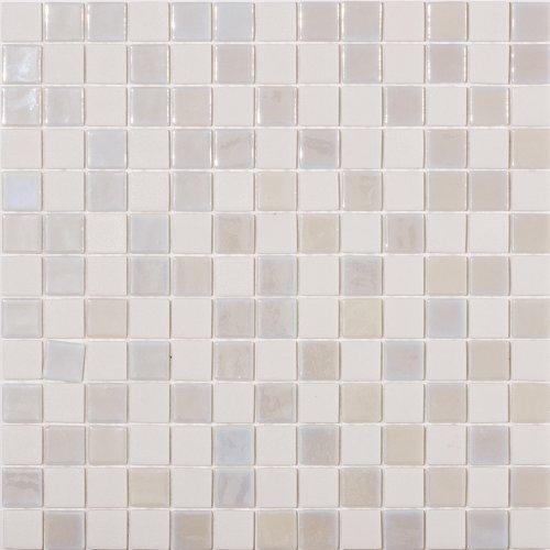 Susan Jablon Mosaics - Steam White Textured Recycled Glass Mosaic