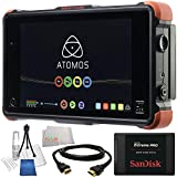 "Atomos Ninja Flame 7"" 4K HDMI Recording Monitor 14PC Accessory Kit. Includes SanDisk 240GB Extreme Pro Solid State Drive + HDMI Cable + Deluxe Camera Starter Kit + Microfiber Cleaning Cloth"